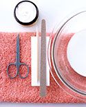 Give yourself a quick and easy manicure at home for Valentine's Day with this simple how-to.