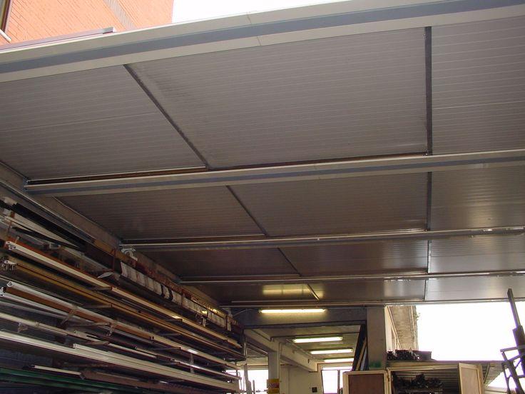 tettoia con copertura coibentata calpestabile