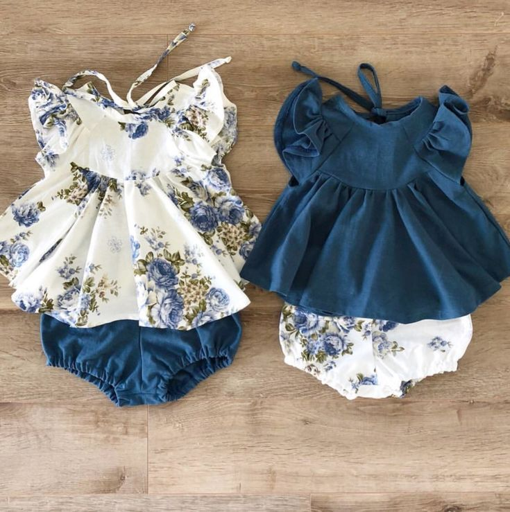 US Infant Baby Girls Fashion Casual Top+Floral Brief Pants Outfits Clothes 2pcs