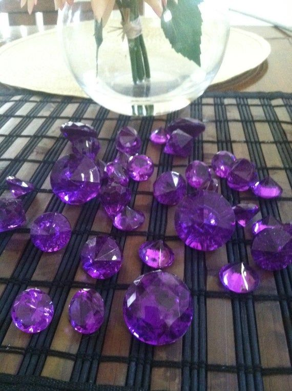 Vasenfüller Sparkling Diamond Gems Für Wohnakzente, Hochzeitsdeko, Blumenarrangements, Tischstreu-Konfetti   – wedding ideas