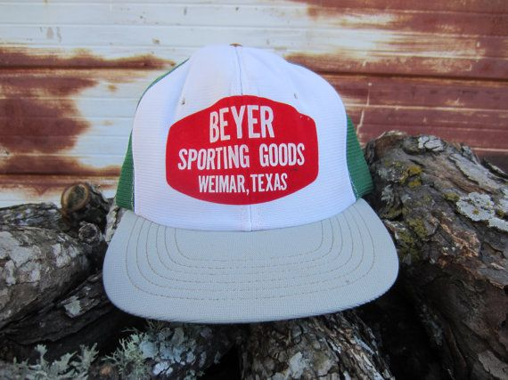 70s/80s Green Texas Trucker Hat, Kid's Hat, Women's S // Beyer Sporting Goods // Texas Baseball Cap