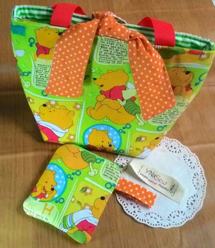 lunch bag and coin purse