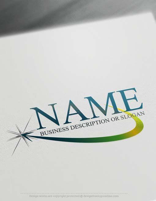 Free Logo maker Template – Online Path star Logo