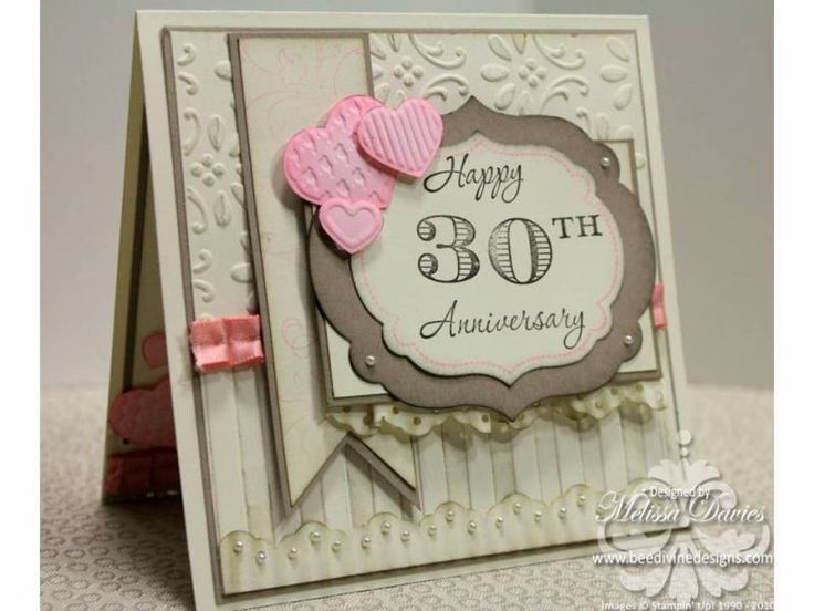 30th Wedding Anniversary by scrappedon - Cards and Paper Crafts at Splitcoaststampers