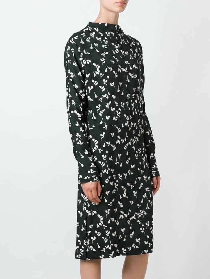 Marni платье миди с цветочным узором