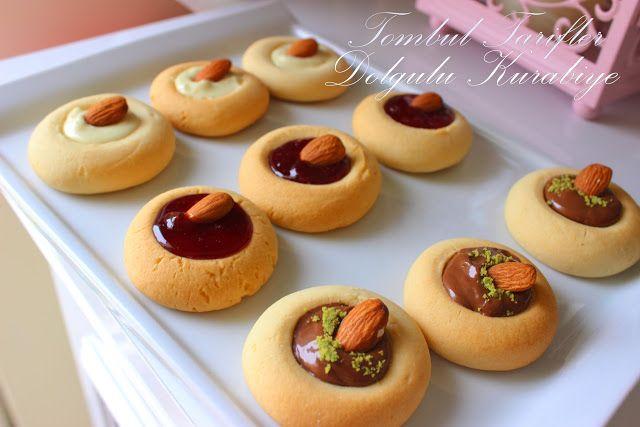 Tombul Tarifler, pratik yemek,, hamurişi ve diğerleri...: Çikolatalı - Marmelatlı Dolgu Kurabiye