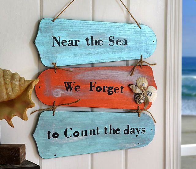 Repurpose ceiling fan blades to create a unique beach accent. Personalize with found shells or other beach treasures. easy to make and great to give.