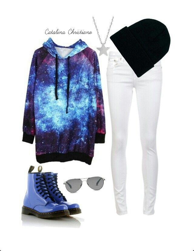 Galaxy outfit! Love the jacket!