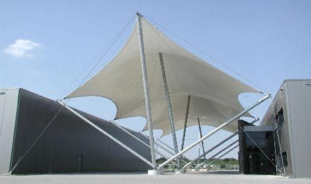 Tensile Structures From Poly Ned Tensioned Fabric