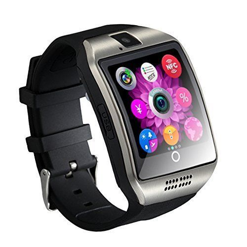 Smart Watch Cell Phone iPhone Android Smartphones Camera Bluetooth Black New