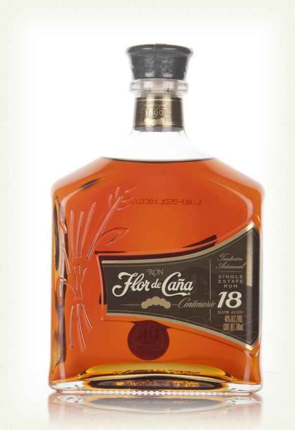 Flor de Caña 18 Year Old Centenario: Nose: Spiced and crisp. Palate: Full bodied and quite thick with dry oak, some cocoa, spices, toffee nut and allspice. Finish: Long, tingling, vanilla spice and nutty char.