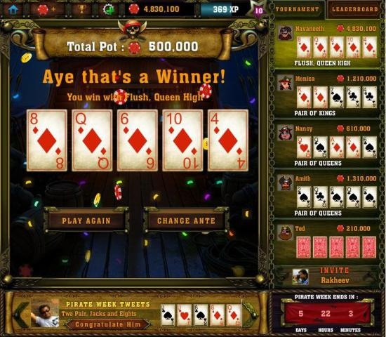Could video poker be a fast-paced multiplayer game? Sure looks like it, thanks to Poker Best in 60 by Ruby Seven Studios. It's out on Facebook, will soon be on iOS devices, and I reviewed it for Gamezebo.