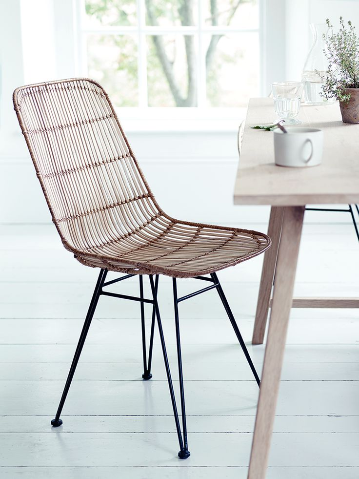 Inspired By Classic 1950u0027s Design And Material, Our Stylish Dining Chair  Has A Strong Black
