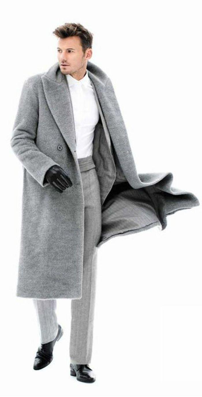 manteau homme celio gris pour etre a la mode