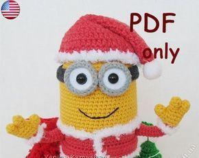 Minion Amigurumi häkeln Muster Weihnachten Bundle von jasminetoys