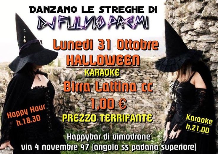 Halloween Karaoke con birra lattina cl 33 a 1€ – Milano – Vimodrone – HAPPY BAR