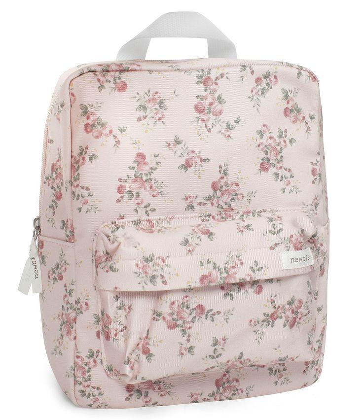 Mönstrad ryggsäck med ficka framtill