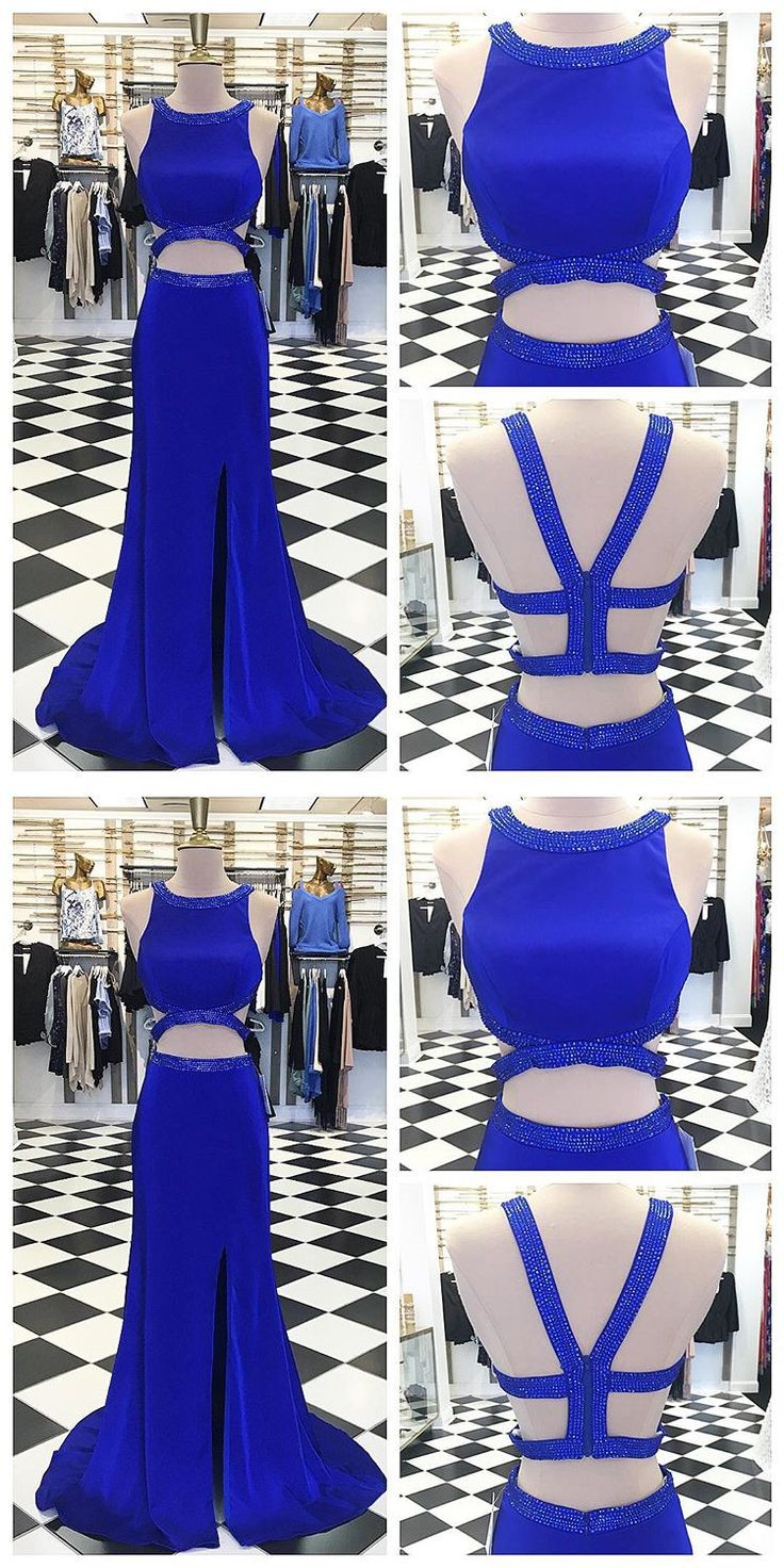 Two Piece Royal Blue Mermaid Long Prom Dress,Prom Dresses,Evening Dress, Prom Gowns, Formal Women Dress,prom dress P0672 #promdresses #longpromdresses #royalbluepromdress #2018promdresses #fashionpromdresses #charmingpromdresses #2018newstyles #fashions #styles #teens #teensprom