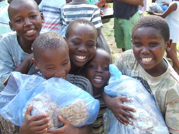 Nemanyi Project Hope in Durbin, South Africa where feeding programs for orphans is a joyful affair.