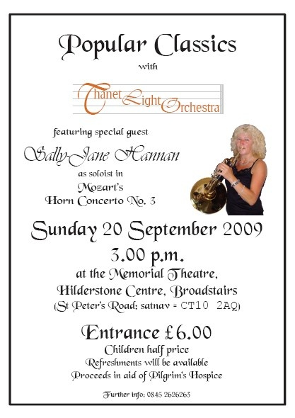 Thanet Light Orchestra with Sally-Jane Hannan, September 2009