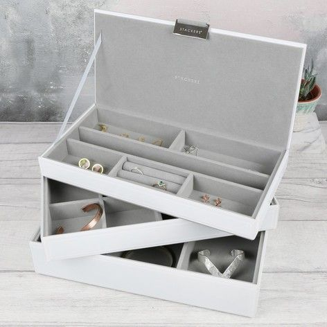 Glass Jewellery Box Stackers