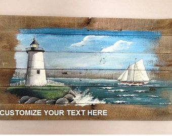 Pallet Painting Distressed Wood Art Pallet Art by PalletPalz