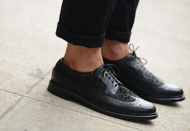 shoes: Street Fashion, Fashion Weeks, Street Style, Black Shoes, Men Fashion, Men Footwear, Black Stars, Men Shoes, New York Fashion