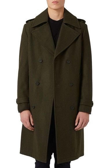 Topman Longline Trench Coat available at #Nordstrom
