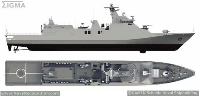 The Ministry of Defence of Indonesia and Dutch Shipyard Damen Schelde Naval Shipbuilding signed in June 2012 a contract for the engineering,... ML: They would do great patrol offshore vessels for Brasil.