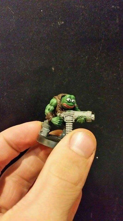 Warhammer 40k Funny Picture, Funny Conversion #warhammer #40k #40000 #wh40k #wh40000 #warhammer40k #gw #gamesworkshop #wellofeternity #miniatures #wargaming #hobby #tabletop