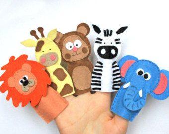 Títeres de dedo se sentía set pack animales por MiracleInspiration