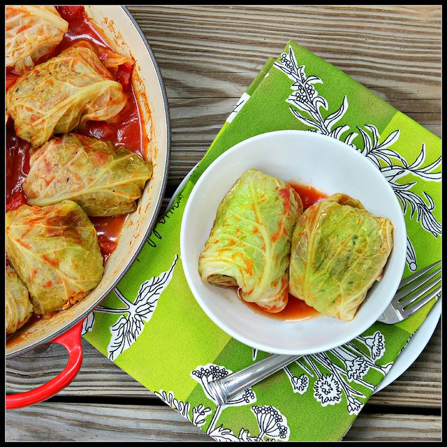 Italian stuffed cabbage...less recipe, more the idea of replacing ...