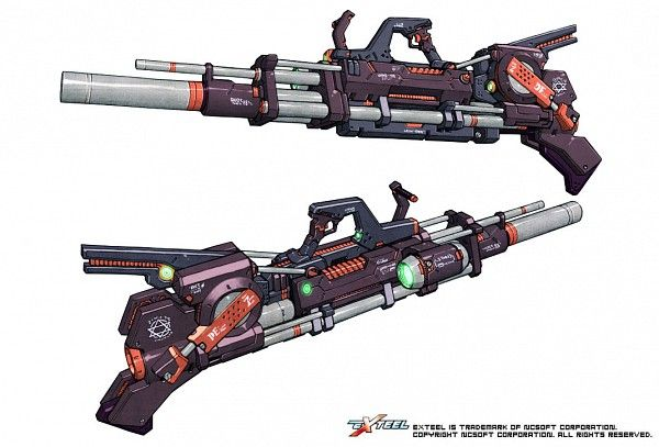 Weapon design from EXTEEL the fast paced 3D sci-fi MMO shooter