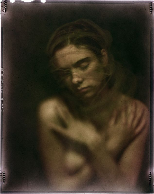 Photography, Large format in People, Portrait, Female, Graflex View II 4x5, Aero Ektar 178 mm 2.5 lens, Fuji 100D color film, expired 1985 - Image #531184