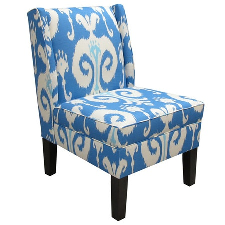 I pinned this Ikat Accent Chair in Blue from the Brights on