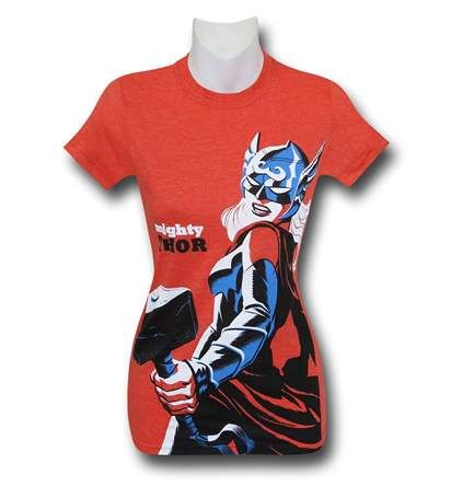 Save $5 on any order over $25 order when you share our page to your favorite social media network.  Discount does not apply to HeroBox Mighty Thor Orange Women's T-Shirt