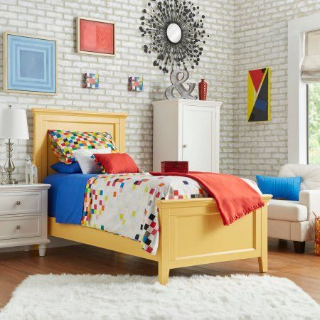 Chelsea Lane Elise Twin Size Bed, Multiple Colors, Yellow