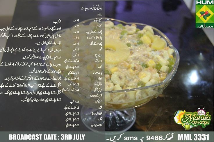 Liberty Ki Fruit Chaat Recipe Shireen Anwer S Recipes Pinterest Fruit Chaat Recipe