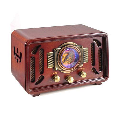 Vintage Radio Bluetooth Tube Retro Wood Speaker Tabletop Antique USB SD AM FM   #VintageRadioBluetooth