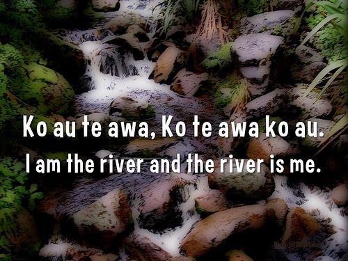 I am the river and the river is me (Ko au te awa, Ko te awa ko au) #maori #proverbs