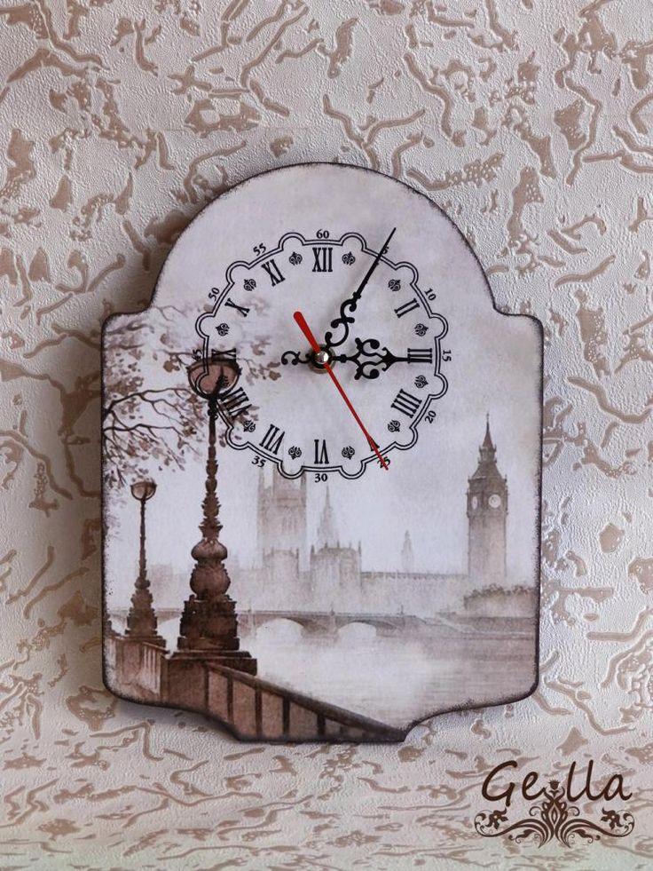 Декупаж - Сайт любителей декупажа - DCPG.RU | Часы и сказка) Click on photo to see more! Нажмите на фото чтобы увидеть больше! decoupage art craft handmade home decor DIY do it yourself clock