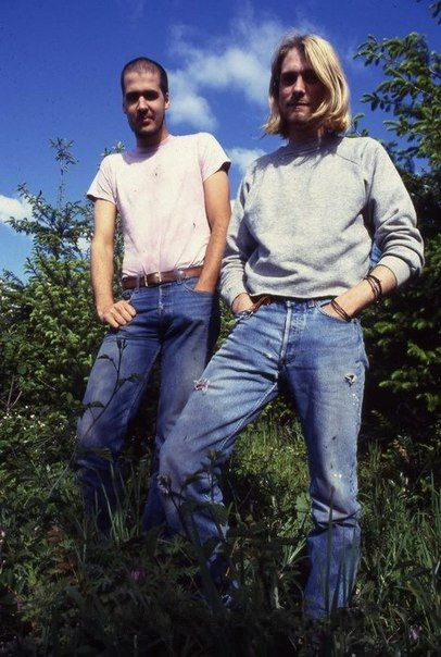 Kurt Cobain and Krist Novoselic1990