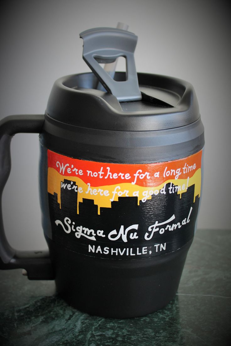 Hand Painted 52 oz Bubba Keg Mug #Nashville #FratFormal #PaintedCooler #BubbaKeg