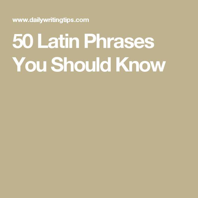 latin essay phrases
