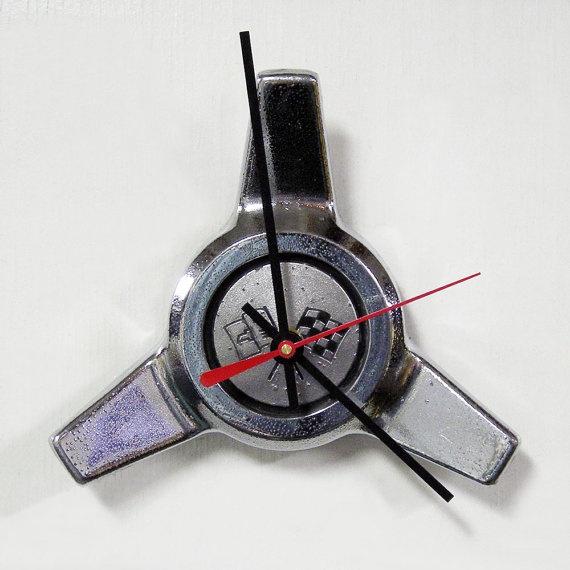 1964 Chevrolet Corvette Wheel Spinner Wall Clock by StarlingInk, $59.99
