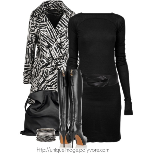"""RICK OWENS Dress"" by uniqueimage on Polyvore. Can't decide if I love"