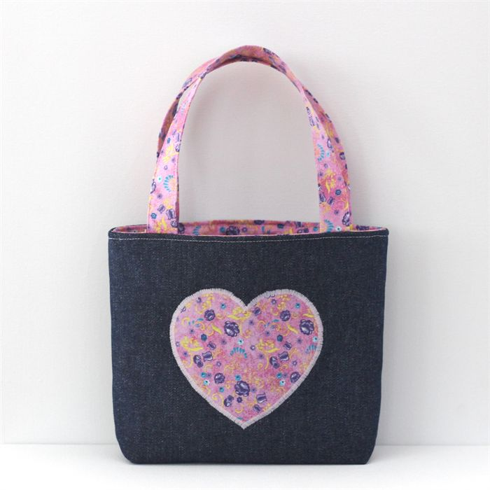 Heartfelt Fundraiser Mini Tote Bag / Little Girls Bag