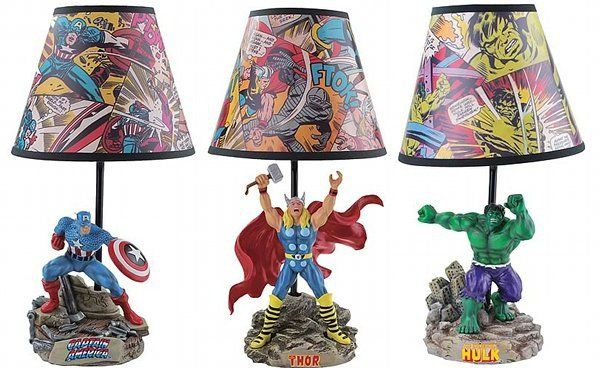 Superhero Novelty Lamps - If you want a different lamp design, how about buying these instead? It is just like having toys and lamps in one. Perfect for superhero fans of all ages.