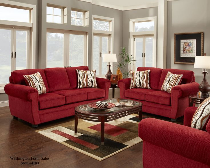 Light Gray With Red Sofa Find This Pin And More On Livingroom Ideas