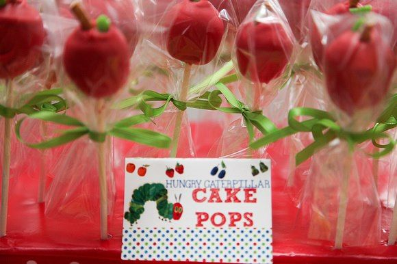 The Hungry Caterpillar Cake Pops